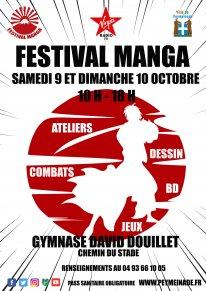 Affiche Festival Manga Peymeinade 2021