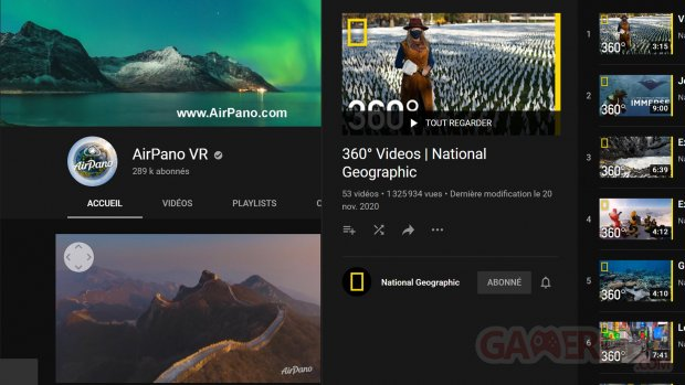 AirPano VR National Geographic Youtube