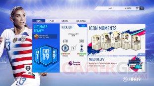 Alex Morgan Menu FIFA 19