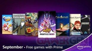 Amazon Prime Gaming 26 08 2021 nouveautés septembre 2021.