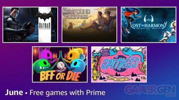 Amazon Prime Gaming juin 2021.