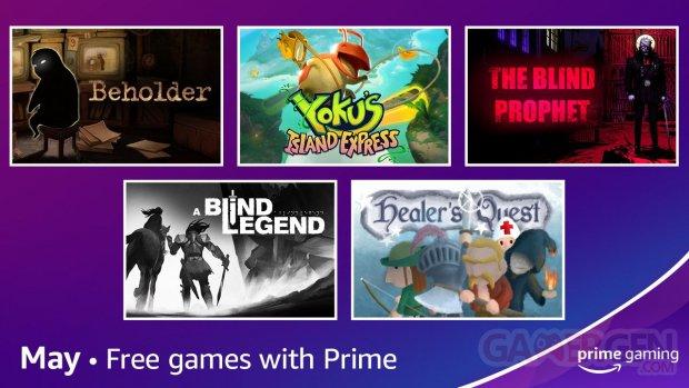 Amazon Prime Gaming mai 2021.