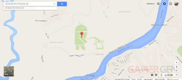 Android pipi Apple Google Earth