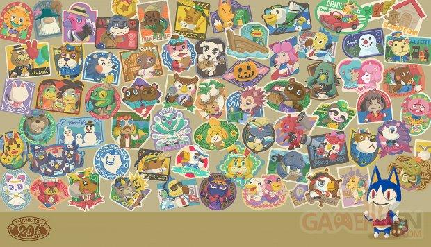 Animal Crossing 20th Anniversary wallpaper fond d'écran anniversaire
