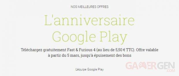anniversaire google play