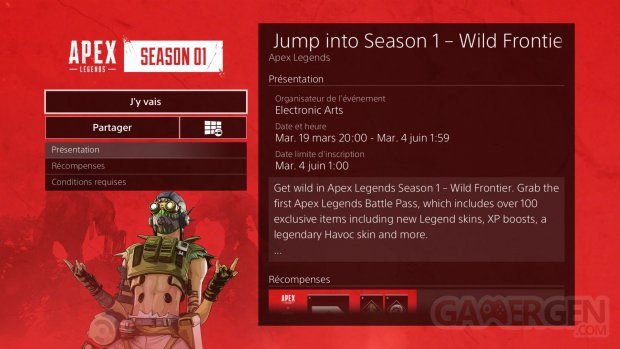 Apex Legends date fin Saison 1 20 03 2019