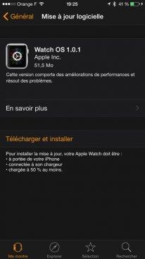 Apple Watch mise a? jour