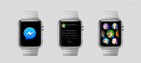 apple watch mockup messenger