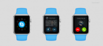 apple watch mockup skype