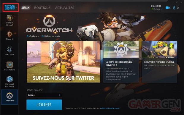 Application Blizzard Battle net