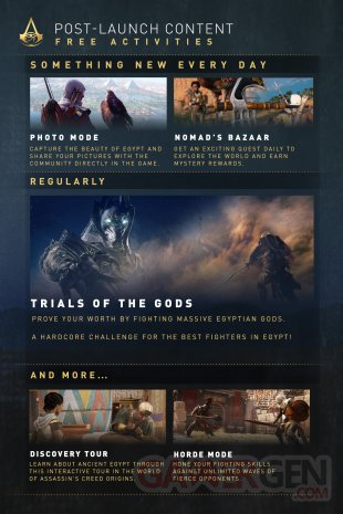 Assassin Creed Origins contenu post lancement calendrier 10 10 2017