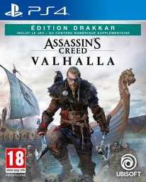 Assassin's Creed Valhalla édition Drakkar Micromania jaquette PS4 01 05 2020