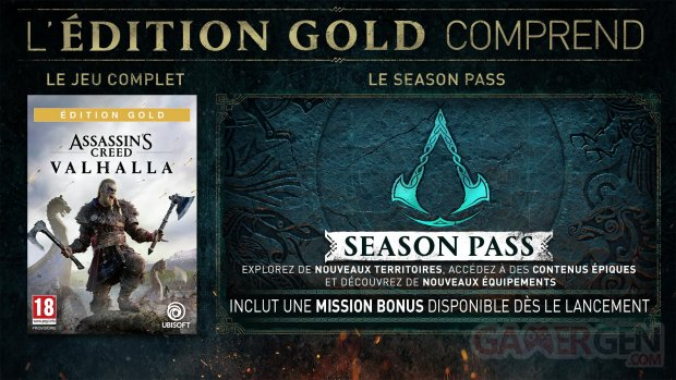 Assassin's Creed Valhalla édition Gold 30 04 2020