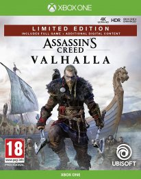 Assassin's Creed Valhalla édition limitée Amazon jaquette Xbox One 01 05 2020