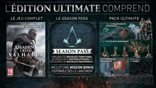 Assassin's Creed Valhalla édition Ultimate 30 04 2020