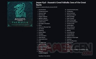 Assassin's Creed Valhalla Sons of the Great North tracklist 26 01 2021