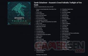 Assassin's Creed Valhalla Twilight of the Gods tracklist 26 01 2021