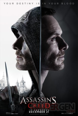 Assassins Creed Movie Film affiche 03 18 10 2016