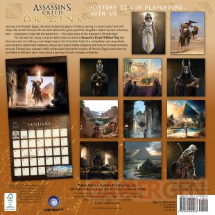 Assassins Creed Origins calendrier 2018 2 13 07 2017