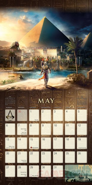 Assassins Creed Origins calendrier 2018 4 13 07 2017