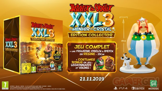 Astérix et Obélix XXL 3 Le Menhir de Cristal collector 14 10 2019