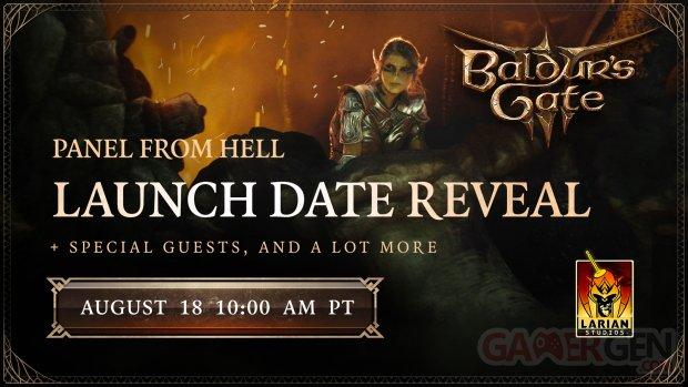 Baldur's Gate 3 III Panel from Hell date release