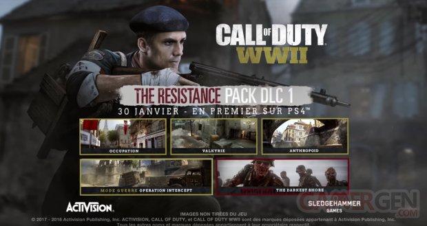 Bande annonce officielle Call of Duty WWII   Découverte du Pack DLC 1   The Resistance