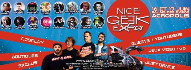 Bannière Nice geek Expo 2018