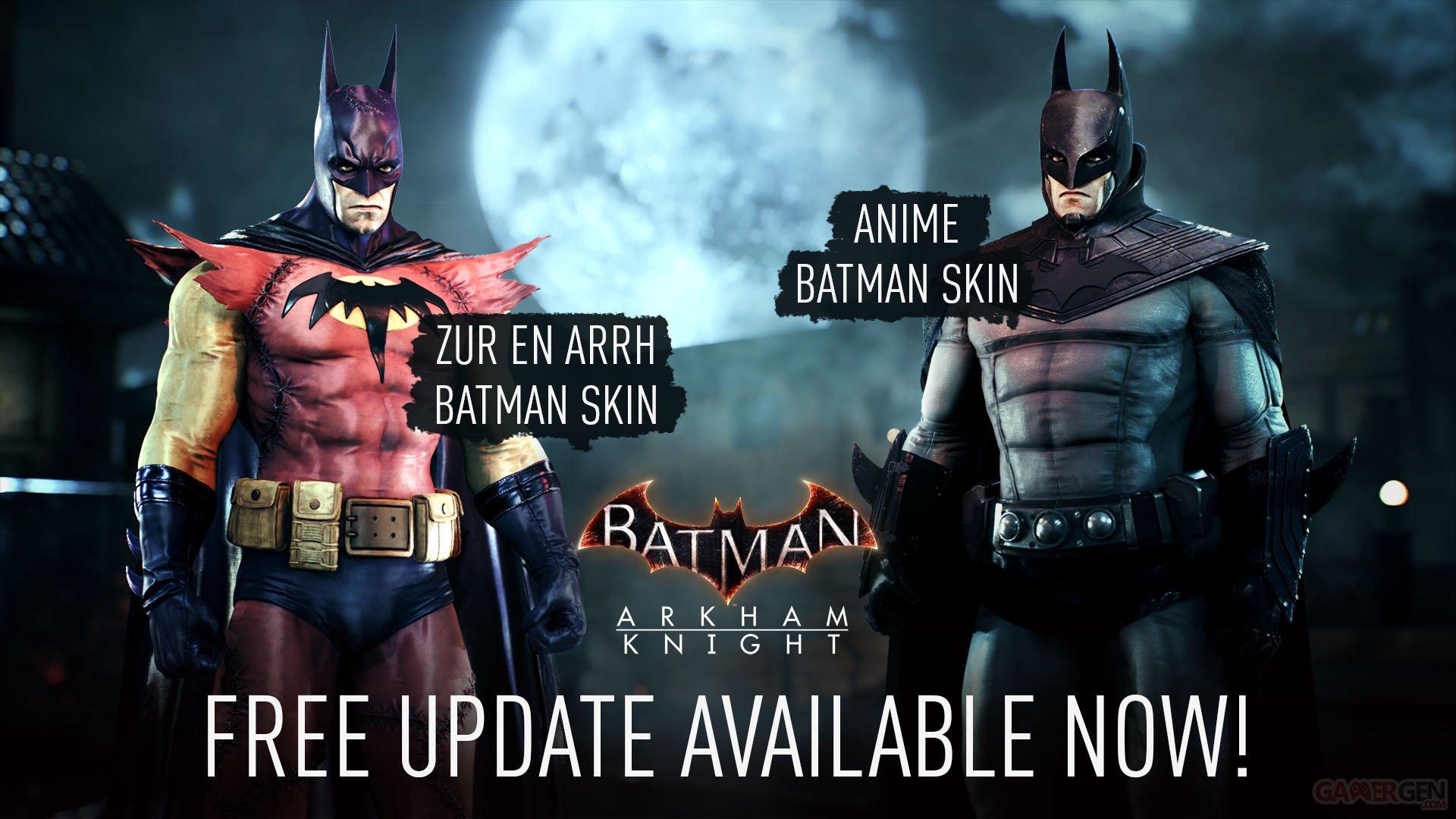 Batman Arkham Knight 5 Ans Plus Tard Une Mise A Jour 1 15 Avec 2 Costumes Gratuits Pour Tout Le Monde Gamergen Com