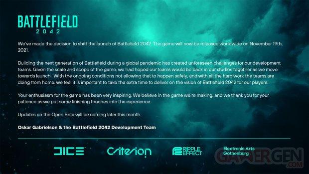 Battlefied 2042 report date sortie