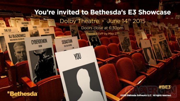 Bethesda Softworks 17 04 2015 invitation E3 2015