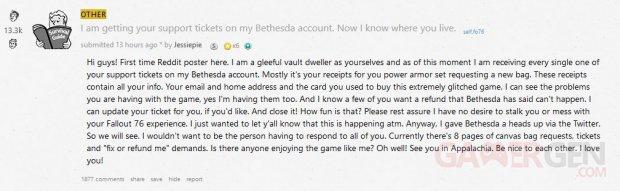 Bethesda Support Bug Reddit
