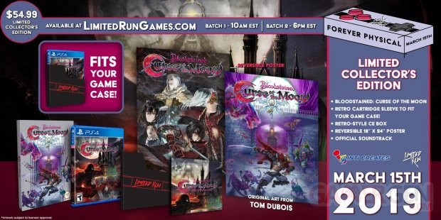 Bloodstained Curse of the Moon collector Limited Run Games 08 03 2019