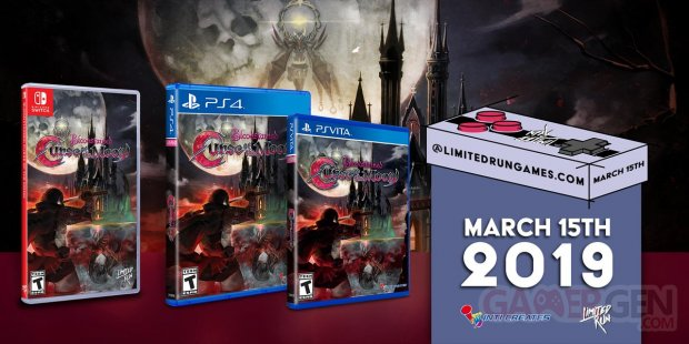 Bloodstained Curse of the Moon Limited Run Games 08 03 2019