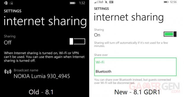 Bluetooth Share screen wp