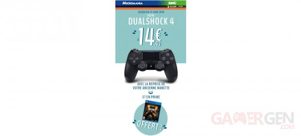 BON PLAN DualShock 4 Micromania manette Call of Duty Black Ops 4