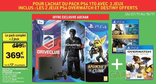 Bon Plan PS4 Slim jeux Auchan