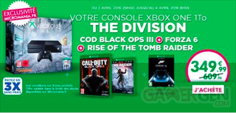 Bon plan Xbox One 3 avril