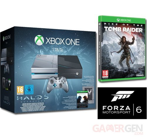 bon plan xbox one collector halo tomb raider forza