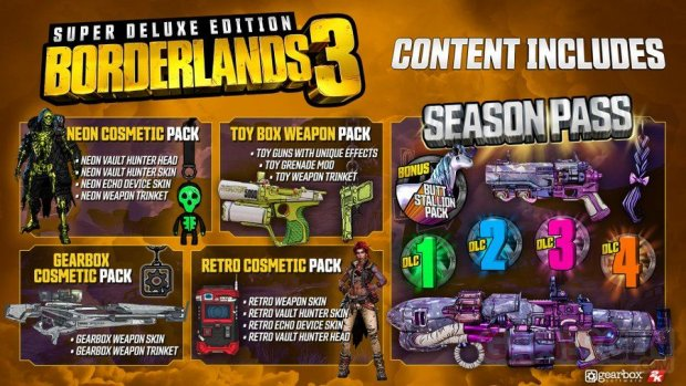 Borderlands 3 contenu Super Deluxe Edition 25 07 2019