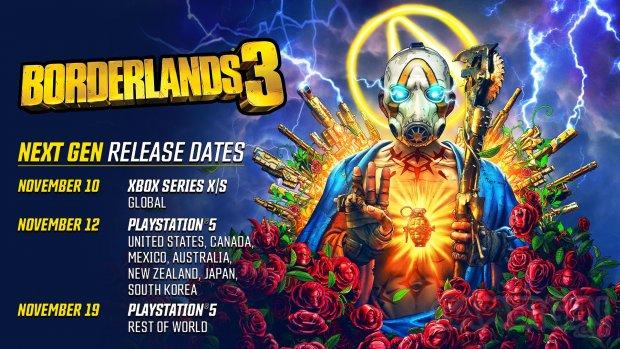 Borderlands 3 next gen dates 13 10 2020