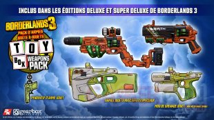 Borderlands 3 pack armes boîtes à jouets 25 07 2019