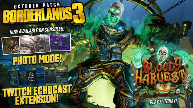 Borderlands 3 patch octobre 26 10 2019