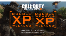 call of duty black ops 3 double xp weapon week end