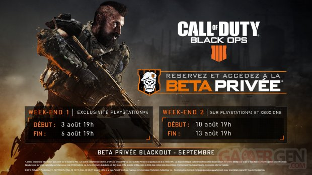 Call of Duty Black Ops 4 bêta horaires 13 07 2018
