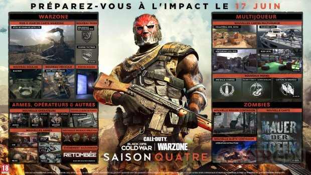 Call of Duty Black Ops Cold War Warzone 14 06 2021 Saison 4 roadmap fr
