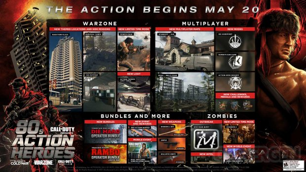 Call of Duty Black Ops Cold War Warzone 18 05 2021 80s Action Heroes Saison 3 Reloaded roadmap