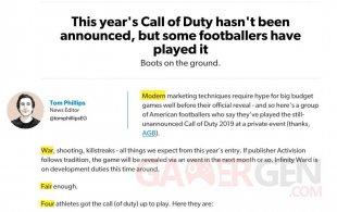 Call of Duty Eurogamer 2019.