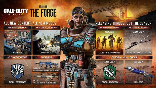 Call of Duty Mobile Saison 8  La Forge pic roadmap
