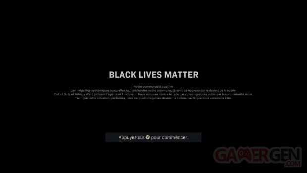 Call of Duty Modern Warfare Warzone Black Lives Matter